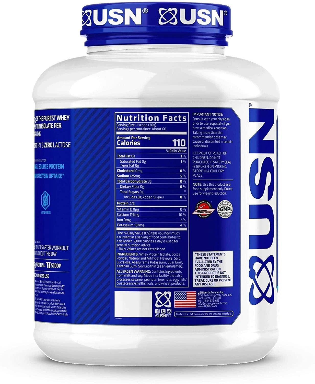 USN Zero Carb Isopro 100% Whey Protein - Hulk Nutrition